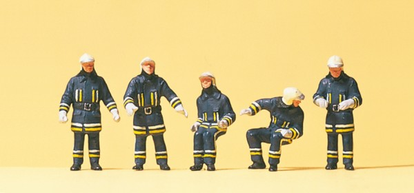 Preiser 10487 - H0 - Feuerwehrmänner in moderner Einsatzkleidung