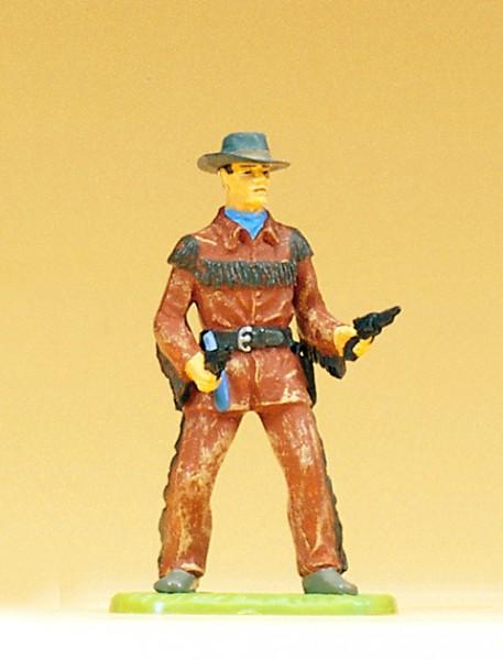 Preiser 54802 - 1:25 - Cowboy stehend mit 2 Revolvern