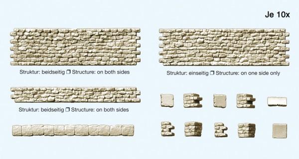 Preiser 18215 - H0 - Bruchsteinmauer