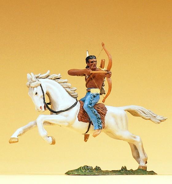 Preiser 54655 - Indianer reitend mit Bogen