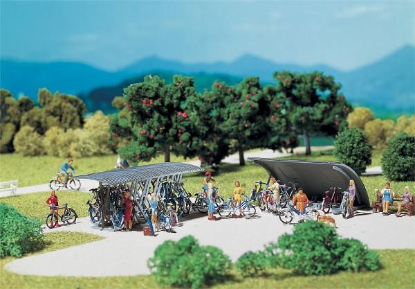 Faller 272535 - N - 2 Fahrradständer + Fahrräder