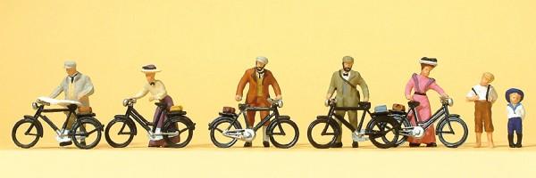 Preiser 12129 - Stehende Radfahrer um 1900