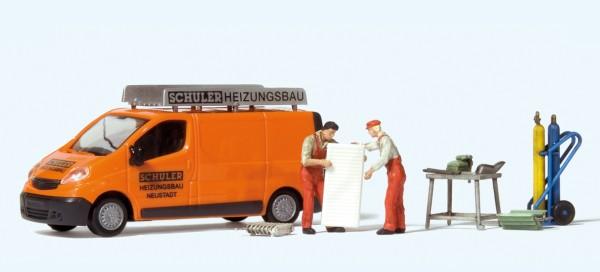 "Preiser 33259 - H0 - Opel Vivaro ""Schuler Heizungsbau"""