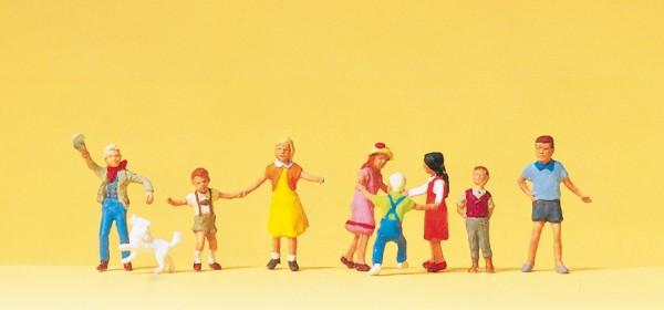 Preiser 10530 - H0 - Spielende Kinder