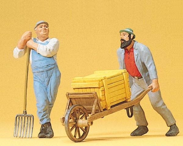 Preiser 45020 - G - Arbeiter mit Schubkarre