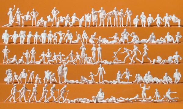 Preiser 16357 - H0 - Freizeit am See, 120 unbemalte Figuren
