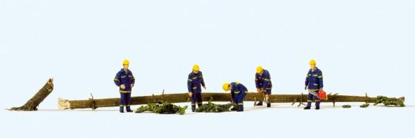 Preiser 10609 - H0 - THW-Helfer bei Aufräumarbeiten