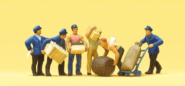 Preiser 10016 - H0 - Güterbodenpersonal