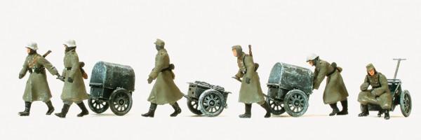 Preiser 16592 - H0 - Infanterie gehend Winteruniform