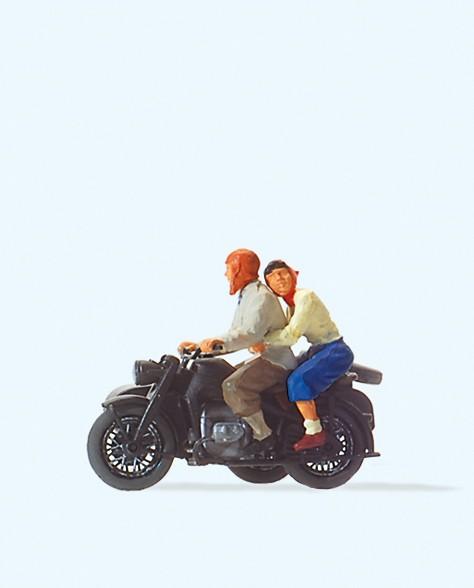 Preiser 28148 - H0 - Motorradfahrer, Zündapp KS 750