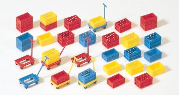 Preiser 17113 - H0 - Stapelkästen aus Kunststoff