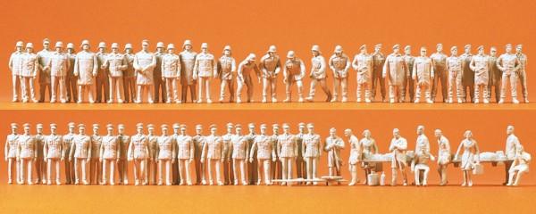 Preiser 16339 - H0 - Feuerwehr, Polizei und Rettungsdienst, 60 Figuren unbemalt