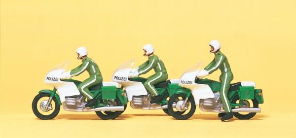Preiser 10489 - H0 - Polizisten auf Motorräder