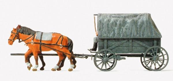 Preiser 16588 - Ersatzfeldwagen Erfa bespannt