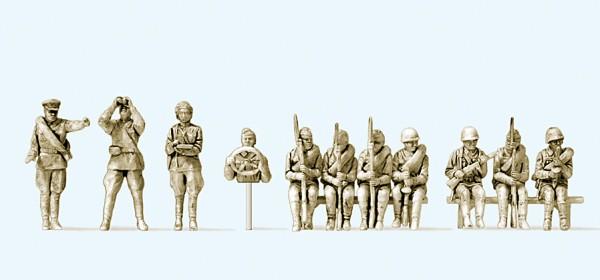 Preiser 16621 - H0 - Infanteristen aufgesessen