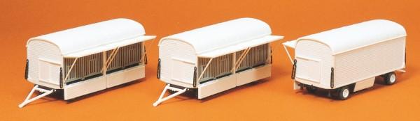 Preiser 20007 - H0 - Käfigwagen ohne Beschriftung, 3 Stk. Bausatz