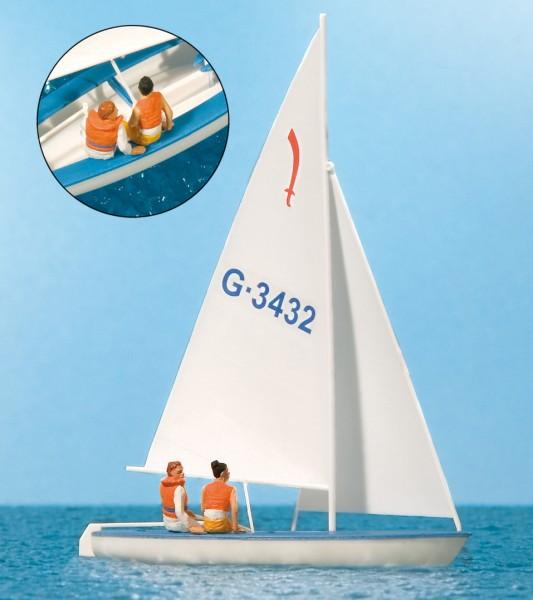 """Preiser 10676 - H0 - Segler (1) Segelboot """"Korsar"""""""