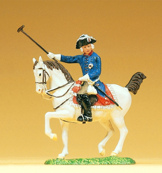 Preiser 54100 - 1:25 - Friedrich II. von Preußen reitend