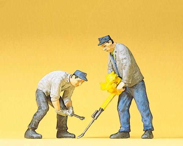 Preiser 45019 - Gleisbauarbeiter Gleisstopfgerät & Schlüssel