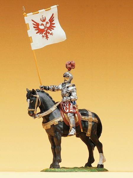 Preiser 52353 - Herold zu Pferd mit Banner