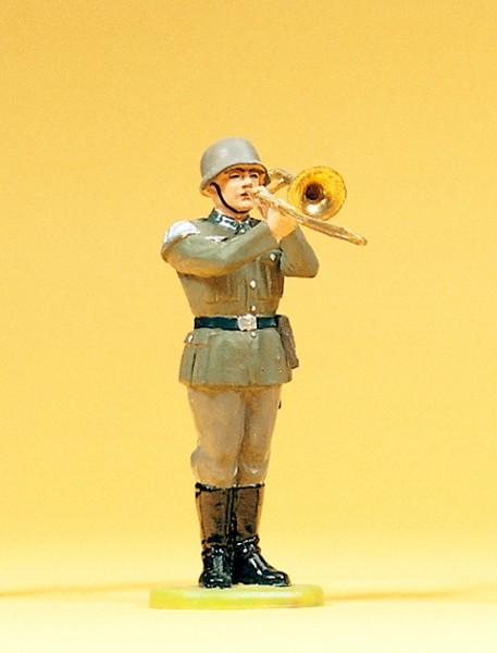 Preiser 56033 - Musiker stehend mit Posaune