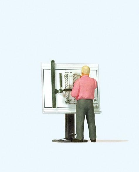 Preiser 28153 - H0 - Am Zeichenbrett