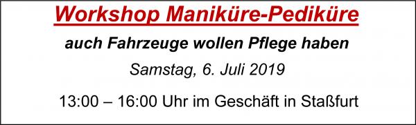 MoBaLa-Sft - Workshop 07 - Fahrzeugpflege am Samstag, 06.07.2019