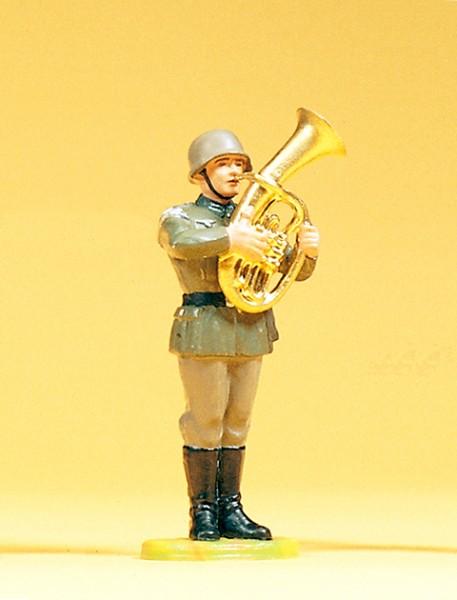 Preiser 56043 - 1:25 - Musiker stehend mit Tenorhorn
