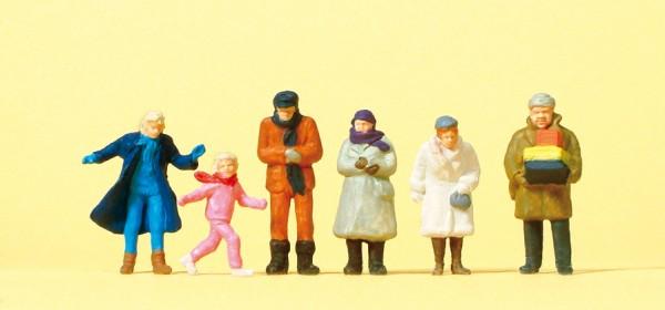 Preiser 14037 - H0 - Passanten mit winterlicher Kleidung