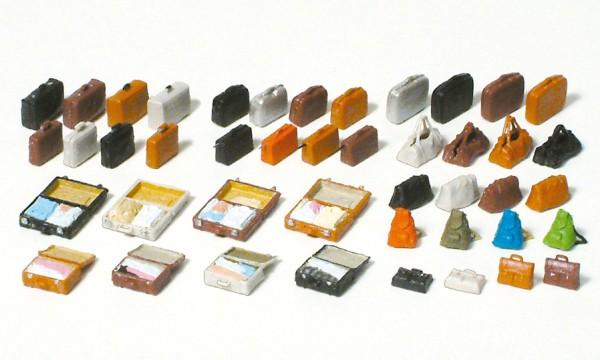 Preiser 17007 - H0 - Reisegepäck, 44 unbemalte Teile