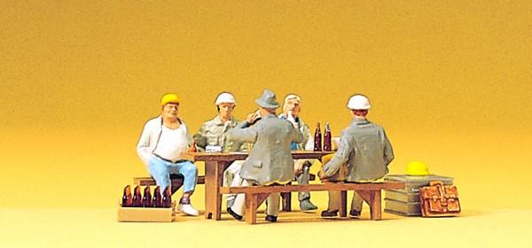 Preiser 10338 - Bauarbeiter in der Pause