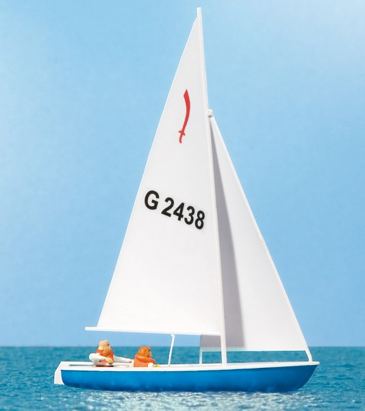 """Preiser 10679 - H0 - Segler (3) Segelboot """"Korsar"""""""