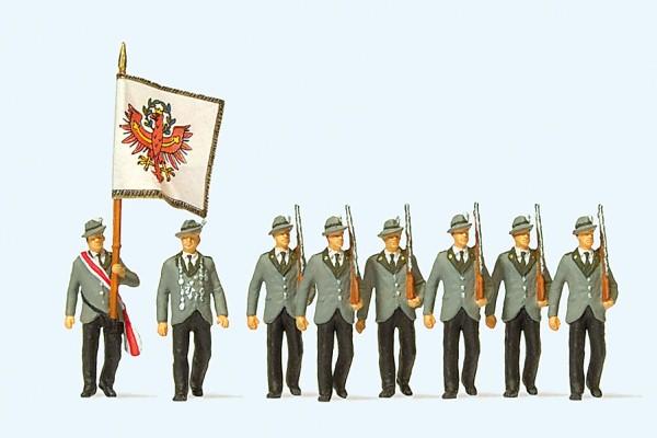 Preiser 24613 - Schützen beim Festzug