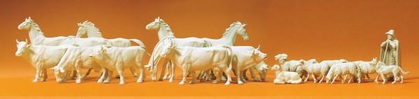 Preiser 72511 - Pferde, Kühe und Schafe