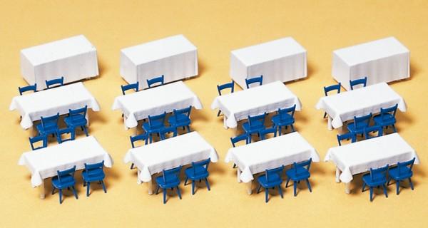 Preiser 17219 - H0 - Tische und Tischdecken