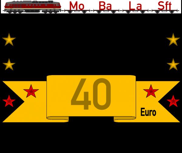 Geschenkgutschein 2 mit dem Wert von 40,- €