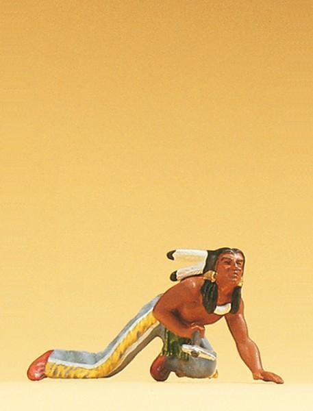 Preiser 54612 - 1:25 - Indianer schleichend mit Tomahawk