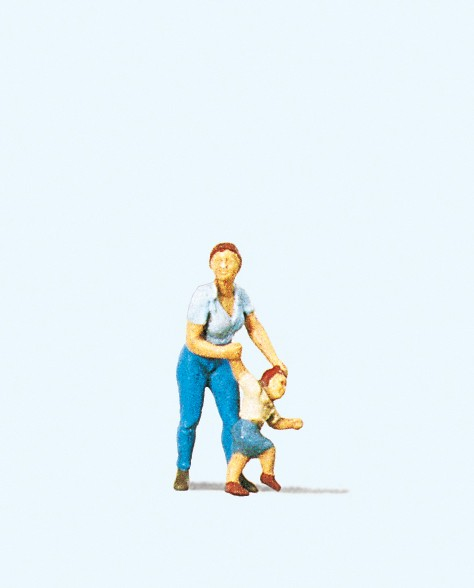 Preiser 28023 - H0 - Mutter mit Kind