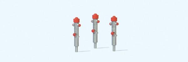 Preiser 17715 - H0 - Hydranten silber, 3 Stück
