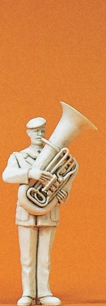 Preiser 64357 - 1:35 - Musiker mit Baßtuba