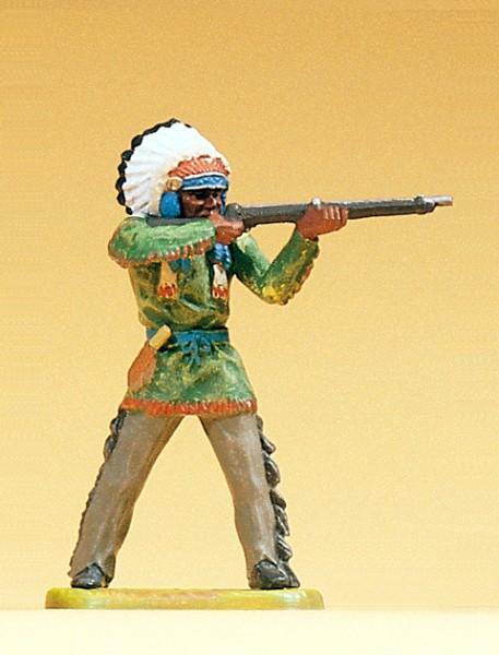 Preiser 54623 - 1:25 - Häuptling stehend mit Gewehr
