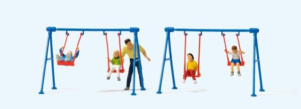 Preiser 10630 - H0 - Kinder auf der Schaukel