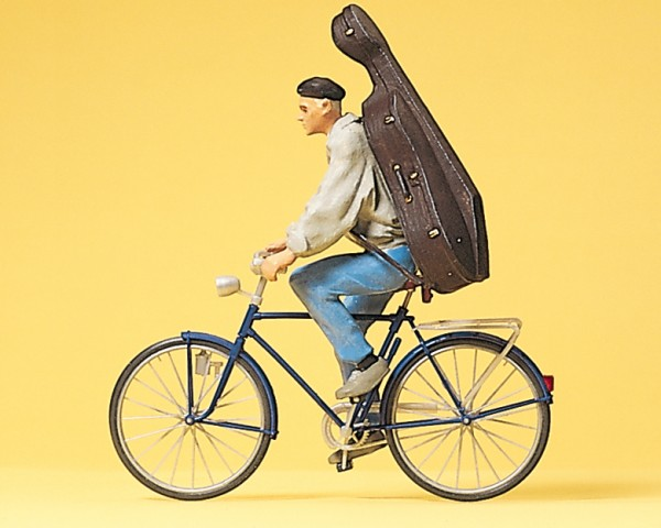 Preiser 45070 - G - Student mit Fahrrad