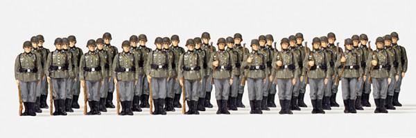 Preiser 16573 - H0 - Infanterie angetreten