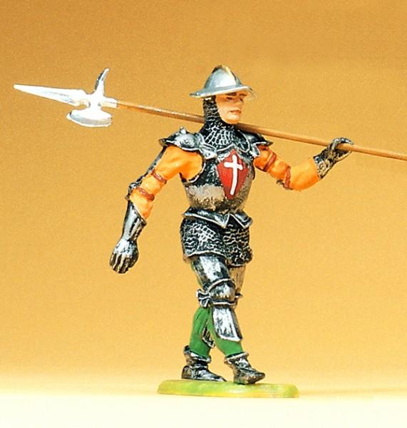 Preiser 52006 - Ritter im Marsch mit Hellebarde