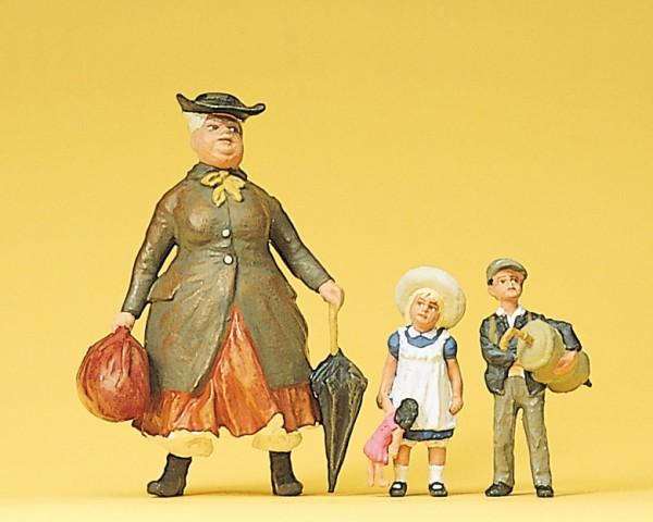 Preiser 45061 - G - Tante Tulli mit Neffe und Nichte