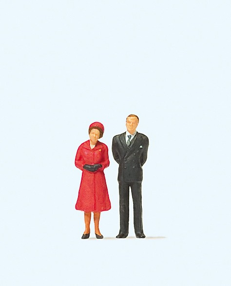 Preiser 28132 - HM The Queen and Prince Philip