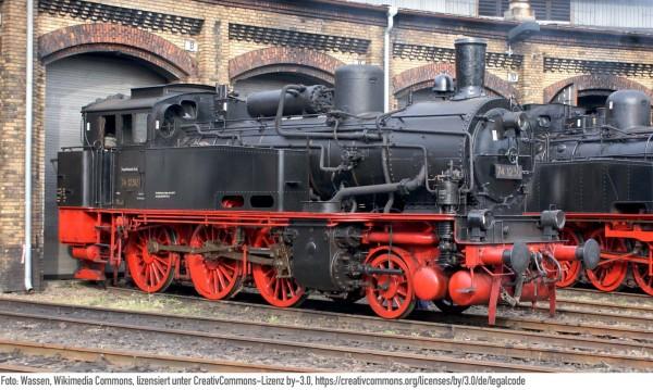 Fischer 21010705 - TT - Dampflok BR 74.4-13 der DR mit Decoder