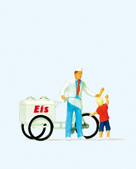 Preiser 28126 - H0 - Eisverkäufer stehend mit Kind