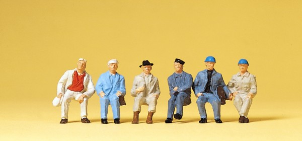 Preiser 14145 - H0 - Sitzende Arbeiter